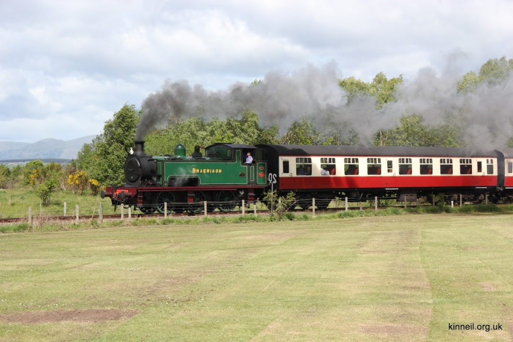 One of the SRPS's steam trains in action on the track running through Kinneil Nature Reserve, Bo'ness. Picture: Adrian Mahoney.