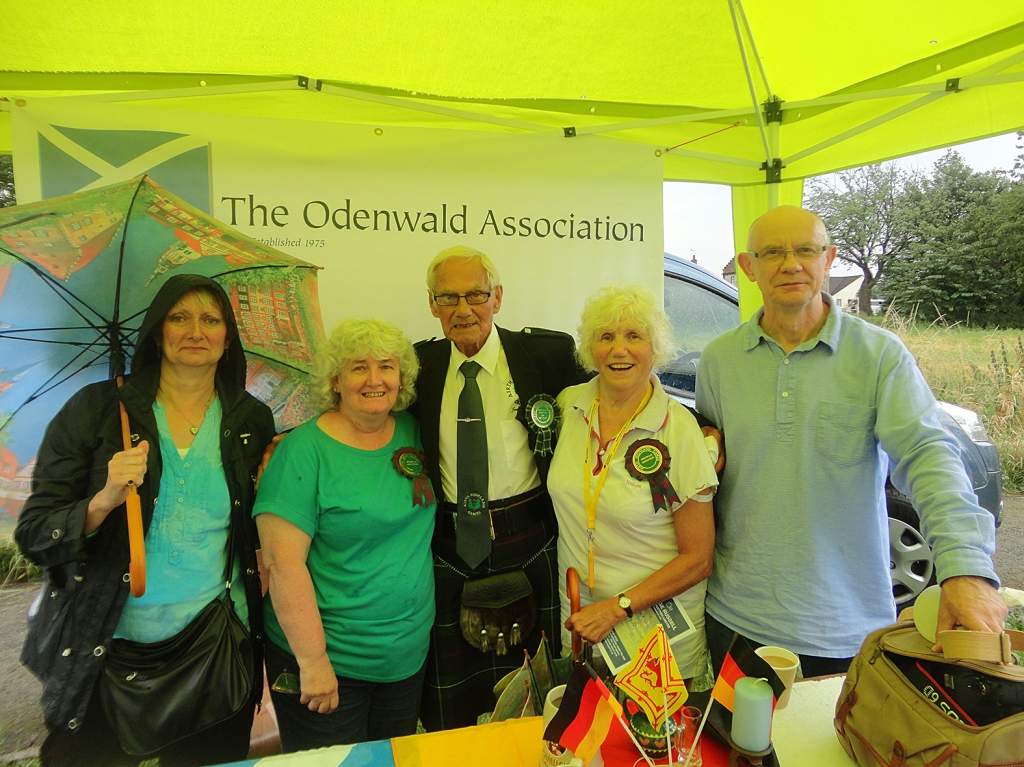 Some of the Association members at the Odenwald Stall at Airth Games.