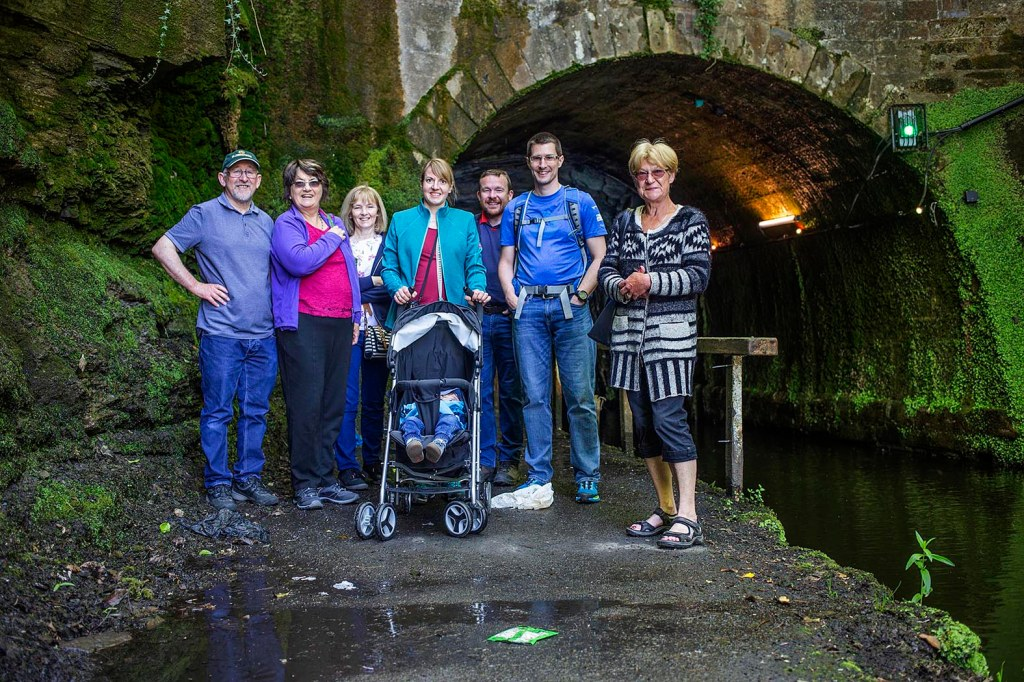 Group at Falkirk Tunnel.